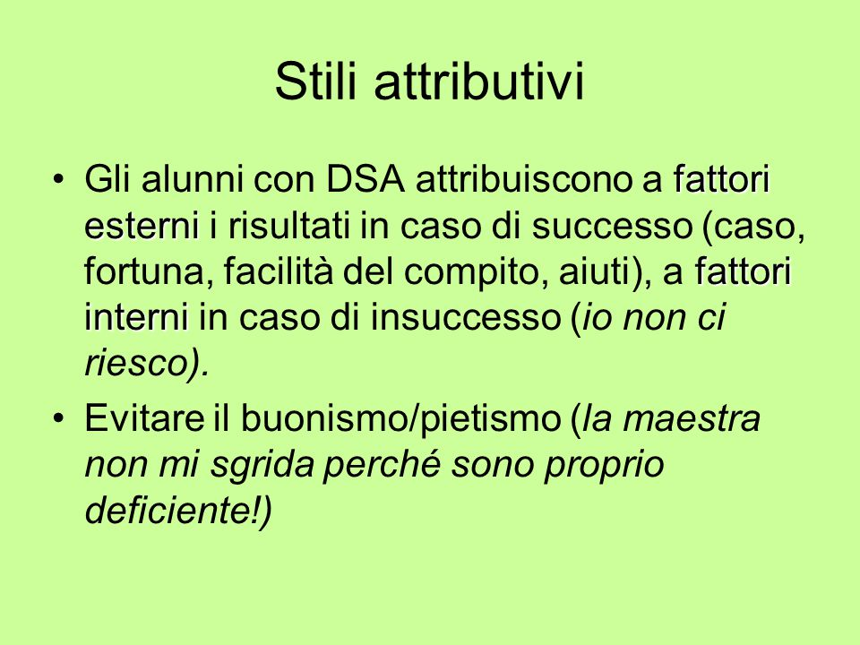 Stili attributivi