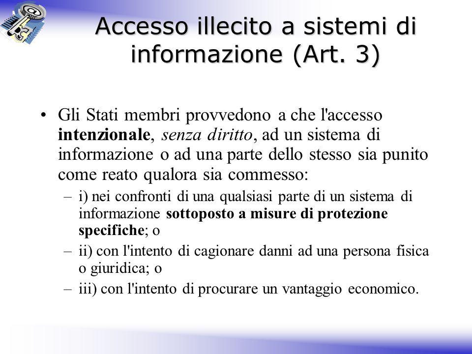 Accesso illecito a sistemi di informazione (Art. 3)