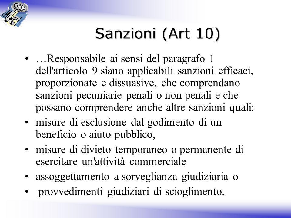 Sanzioni (Art 10)