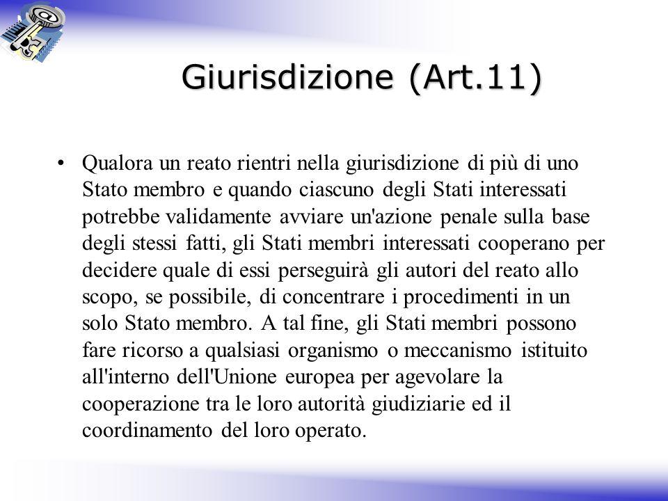 Giurisdizione (Art.11)