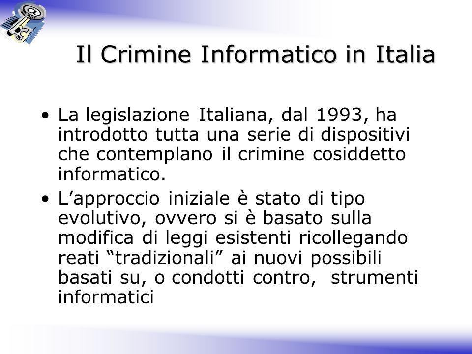 Il Crimine Informatico in Italia