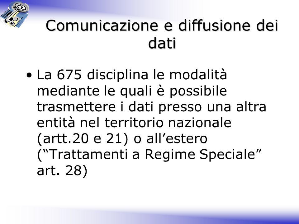 Comunicazione e diffusione dei dati