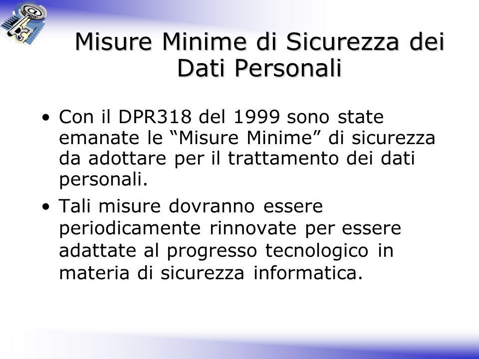 Misure Minime di Sicurezza dei Dati Personali