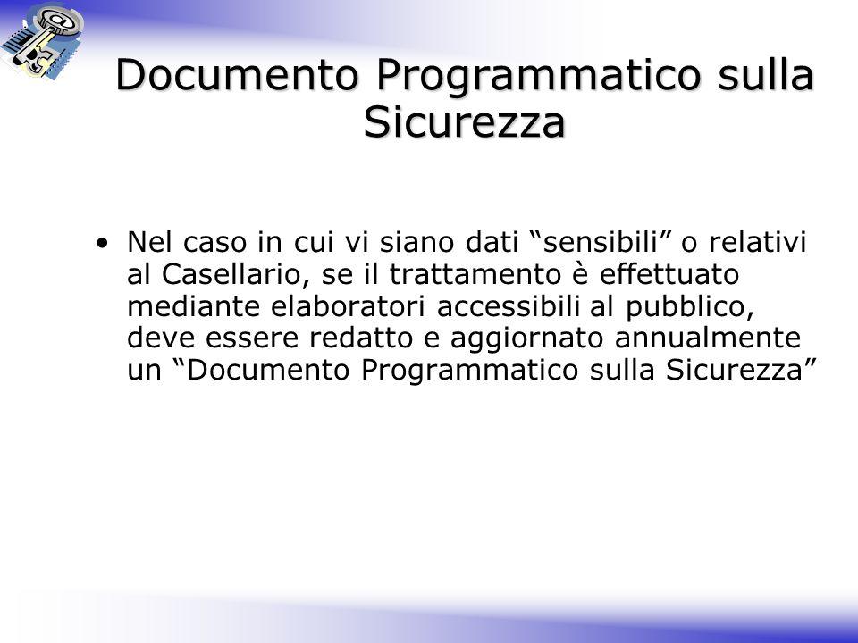 Documento Programmatico sulla Sicurezza