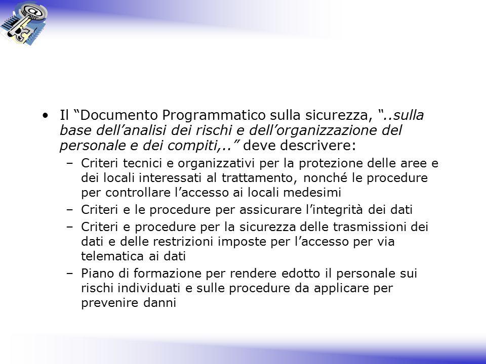 Il Documento Programmatico sulla sicurezza,