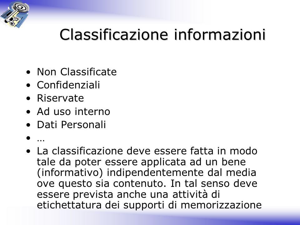 Classificazione informazioni