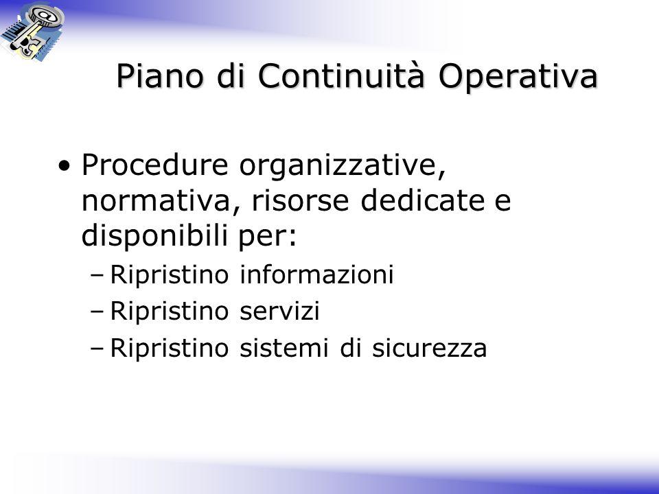 Piano di Continuità Operativa