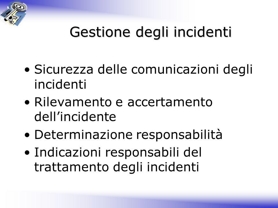 Gestione degli incidenti