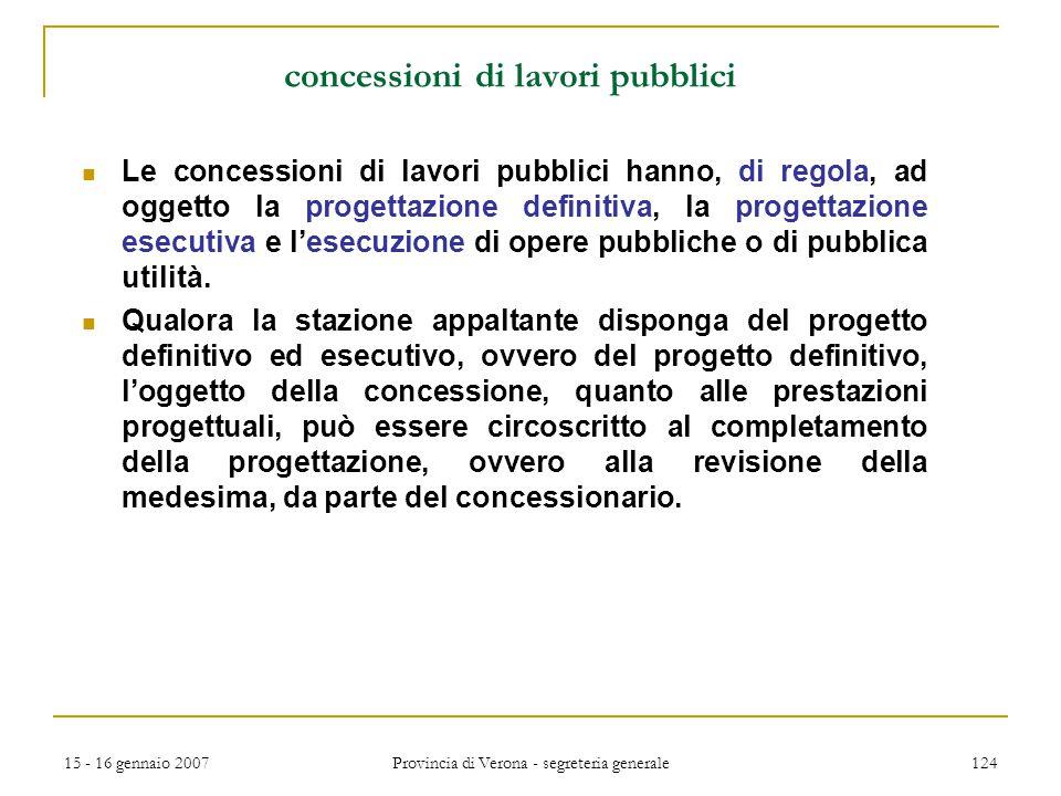 concessioni di lavori pubblici