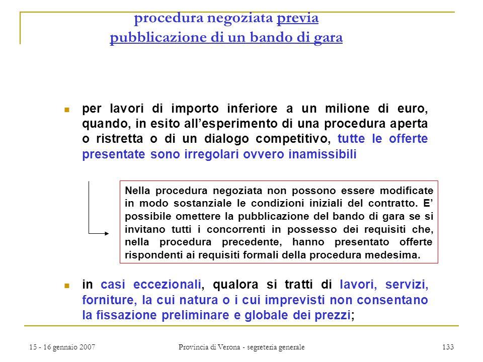 procedura negoziata previa pubblicazione di un bando di gara