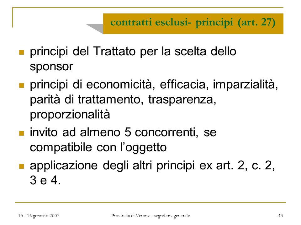 contratti esclusi- principi (art. 27)