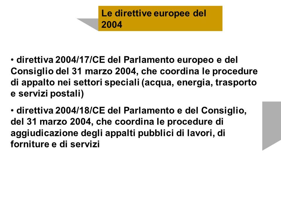 Le direttive europee del 2004