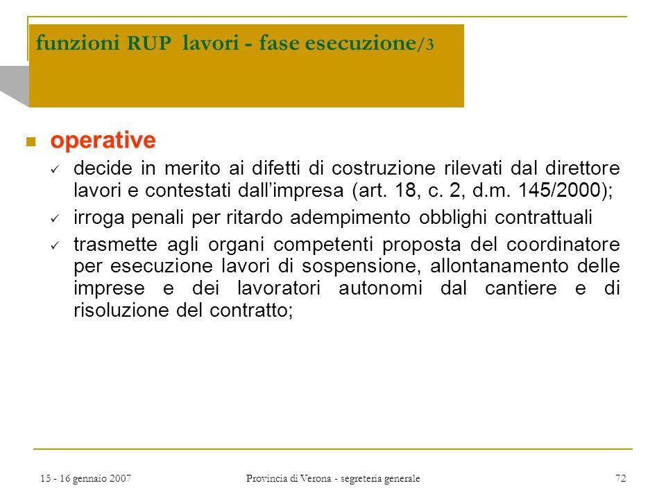 funzioni RUP lavori - fase esecuzione/3