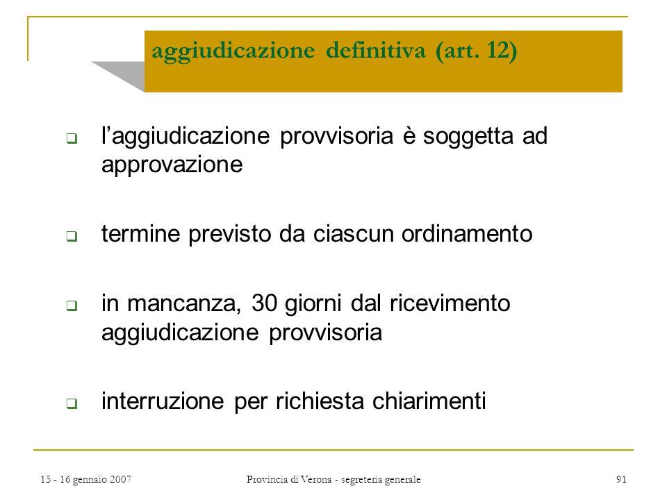aggiudicazione definitiva (art. 12)