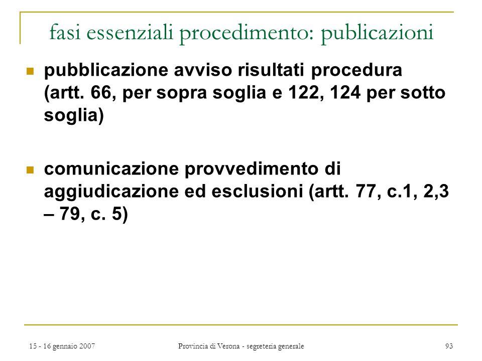 fasi essenziali procedimento: publicazioni