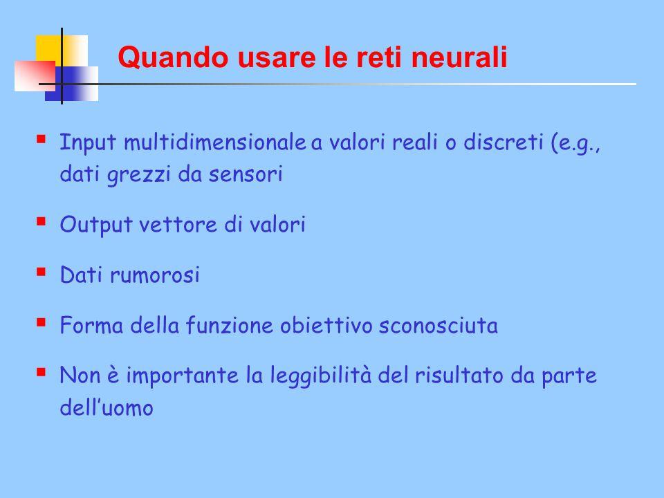 Quando usare le reti neurali