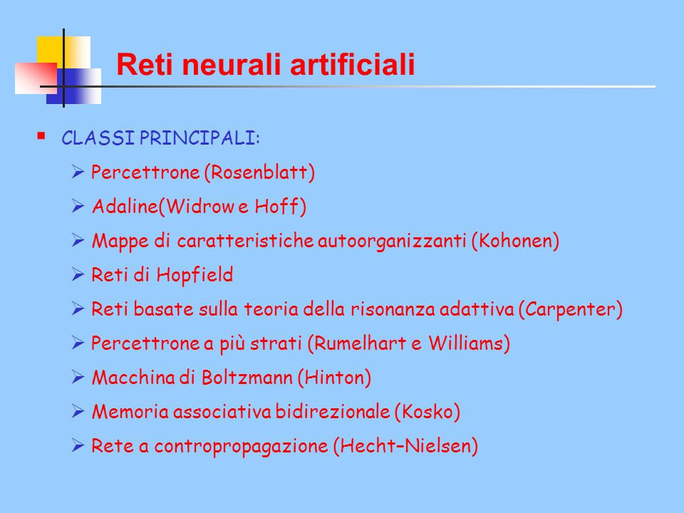 Reti neurali artificiali