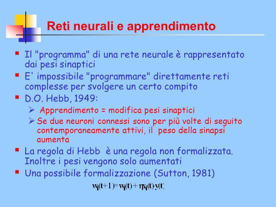 Reti neurali e apprendimento