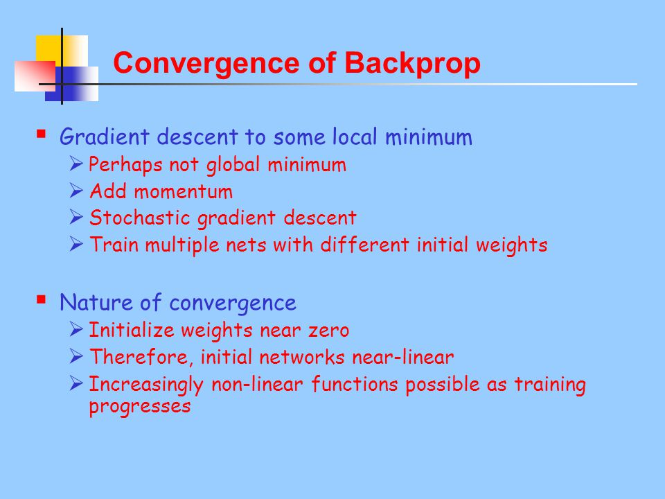 Convergence of Backprop