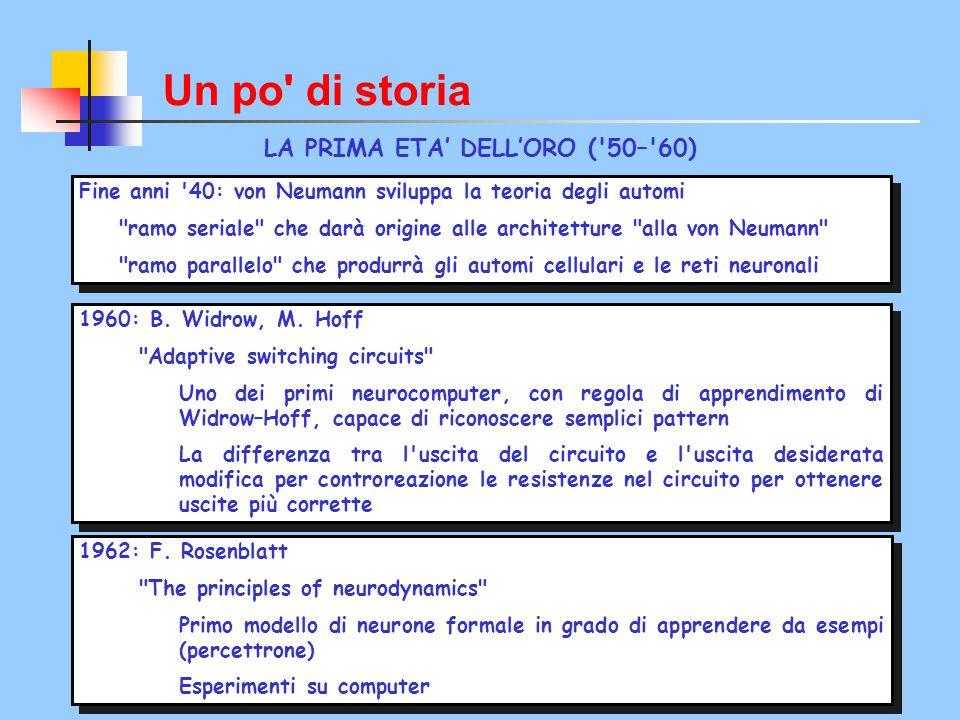 LA PRIMA ETA' DELL'ORO ( 50– 60)