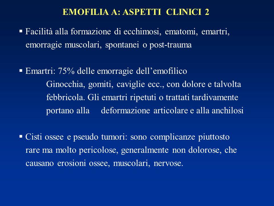 EMOFILIA A: ASPETTI CLINICI 2