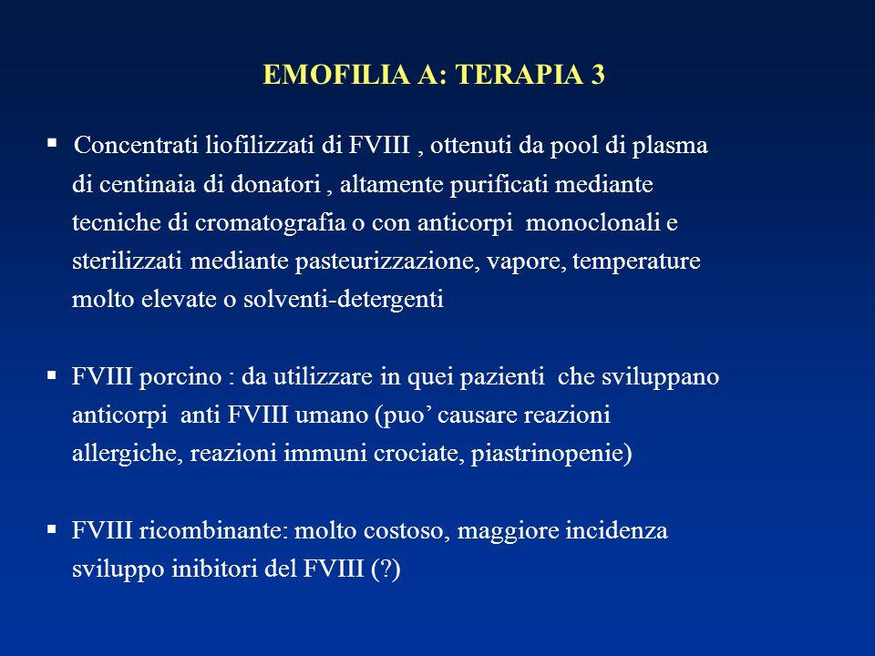 Concentrati liofilizzati di FVIII , ottenuti da pool di plasma