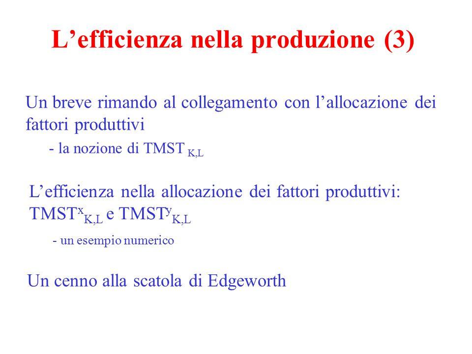 L'efficienza nella produzione (3)