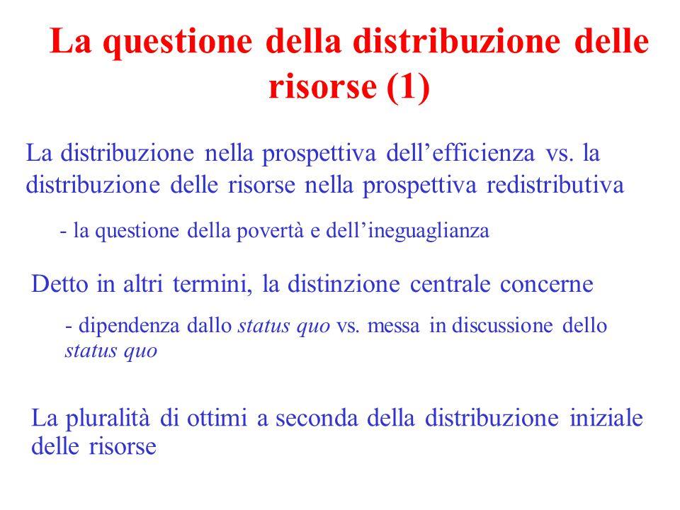La questione della distribuzione delle risorse (1)