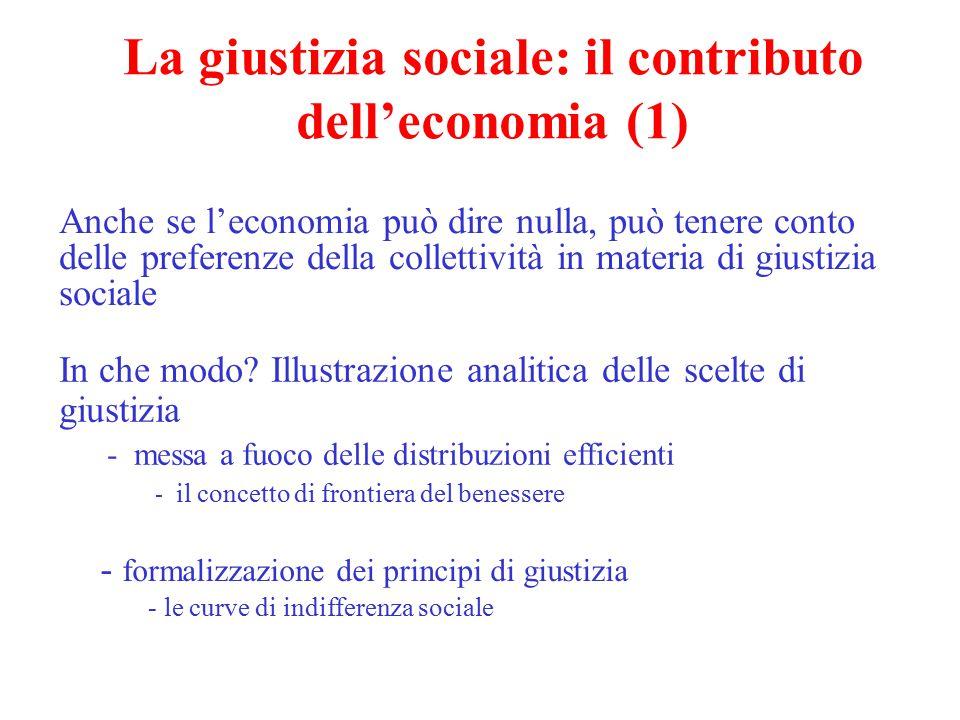 La giustizia sociale: il contributo dell'economia (1)