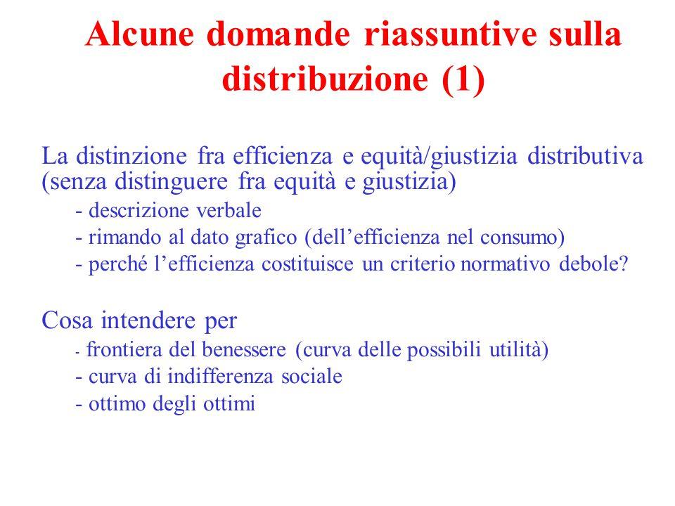 Alcune domande riassuntive sulla distribuzione (1)