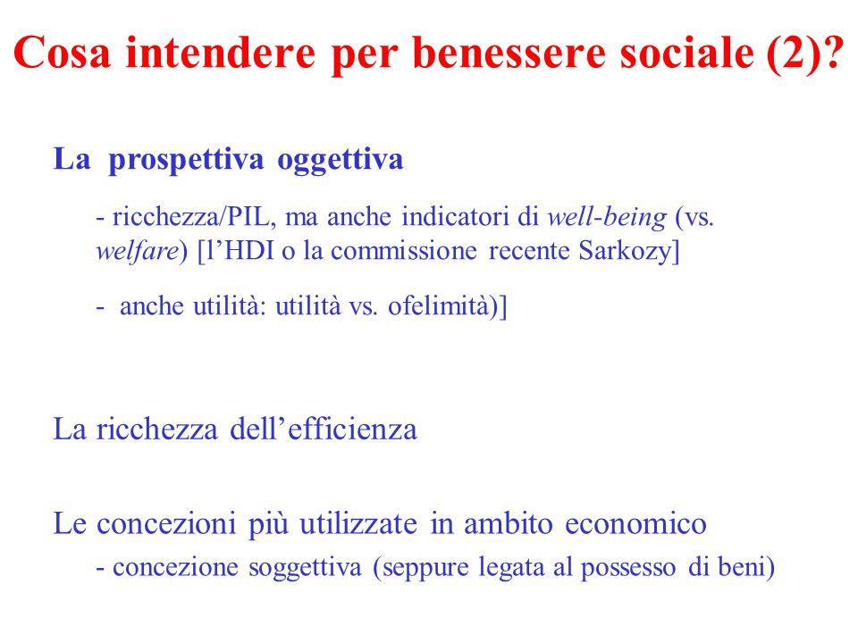 Cosa intendere per benessere sociale (2)