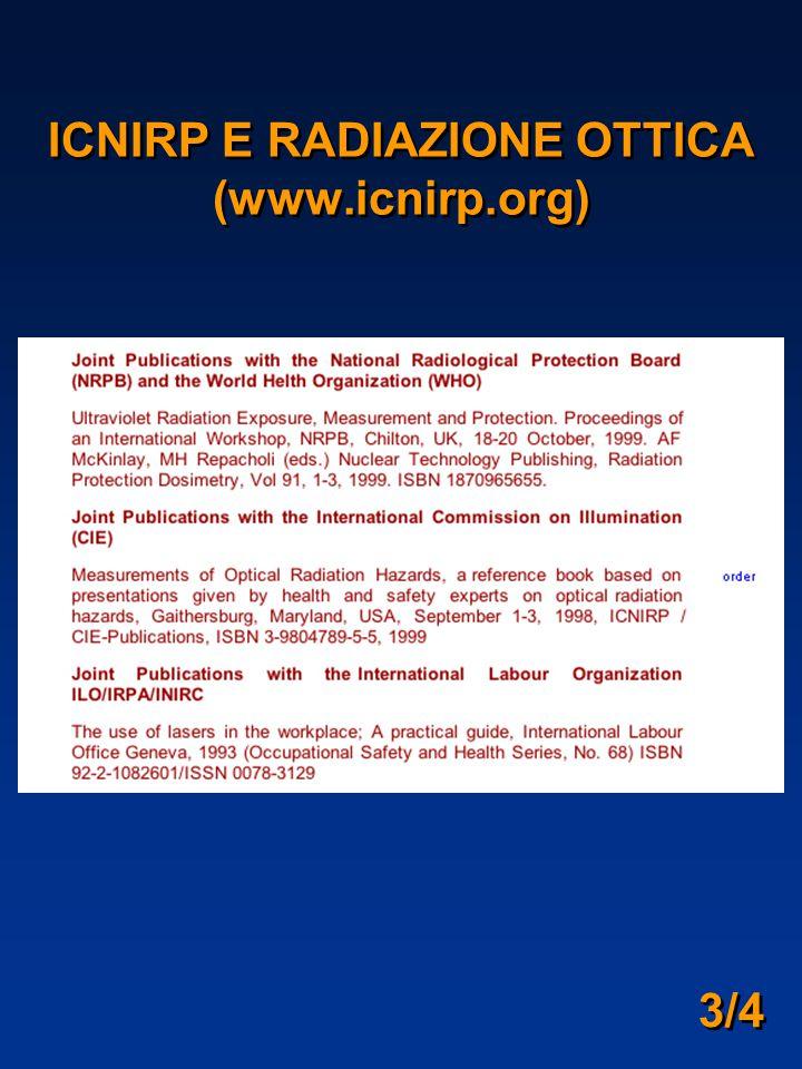 ICNIRP E RADIAZIONE OTTICA (www.icnirp.org)