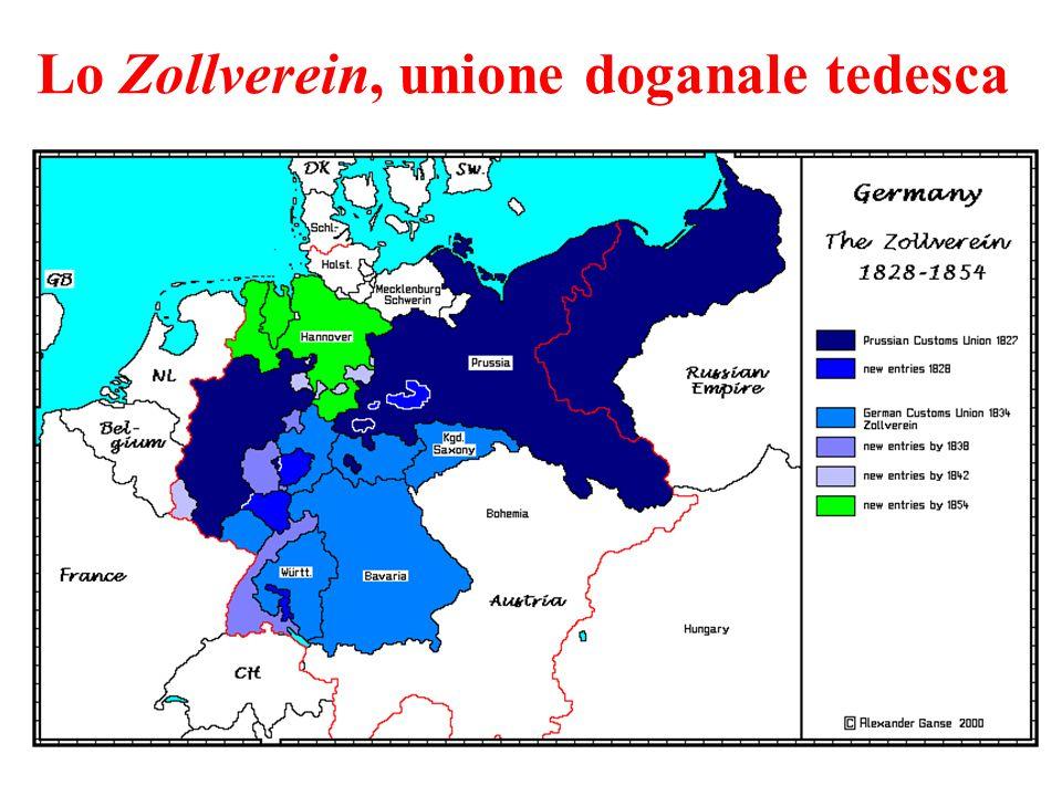 Lo Zollverein, unione doganale tedesca