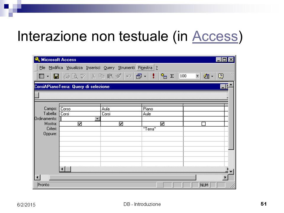 Interazione non testuale (in Access)