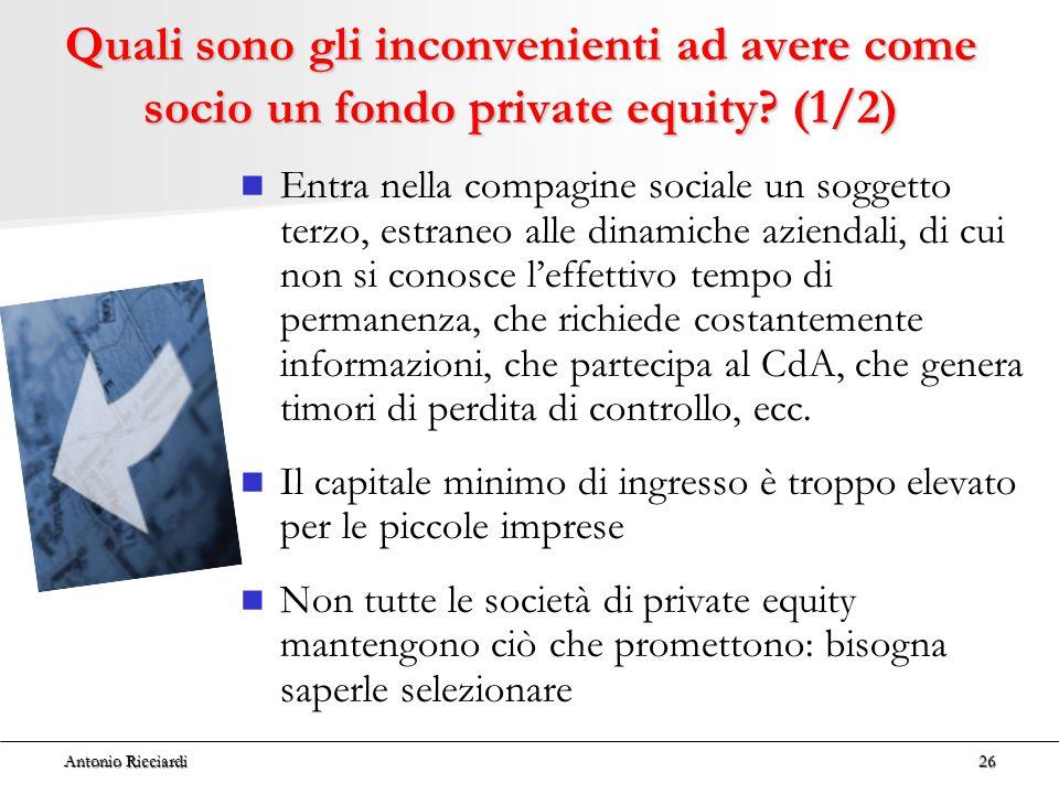 Quali sono gli inconvenienti ad avere come socio un fondo private equity (1/2)