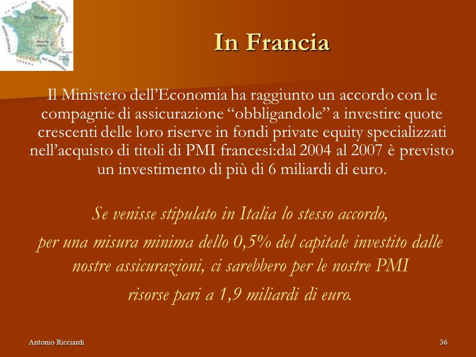 In Francia Se venisse stipulato in Italia lo stesso accordo,