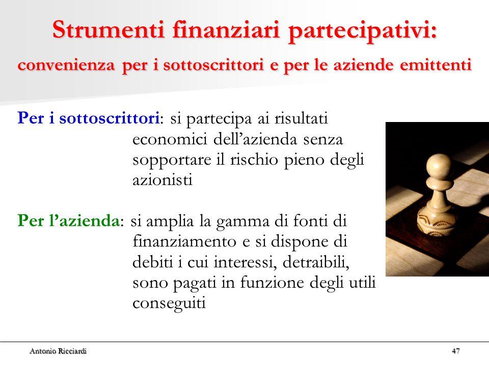 Strumenti finanziari partecipativi: convenienza per i sottoscrittori e per le aziende emittenti