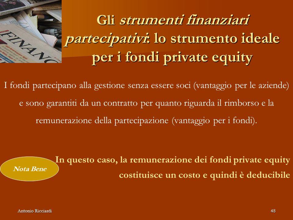 Gli strumenti finanziari partecipativi: lo strumento ideale per i fondi private equity