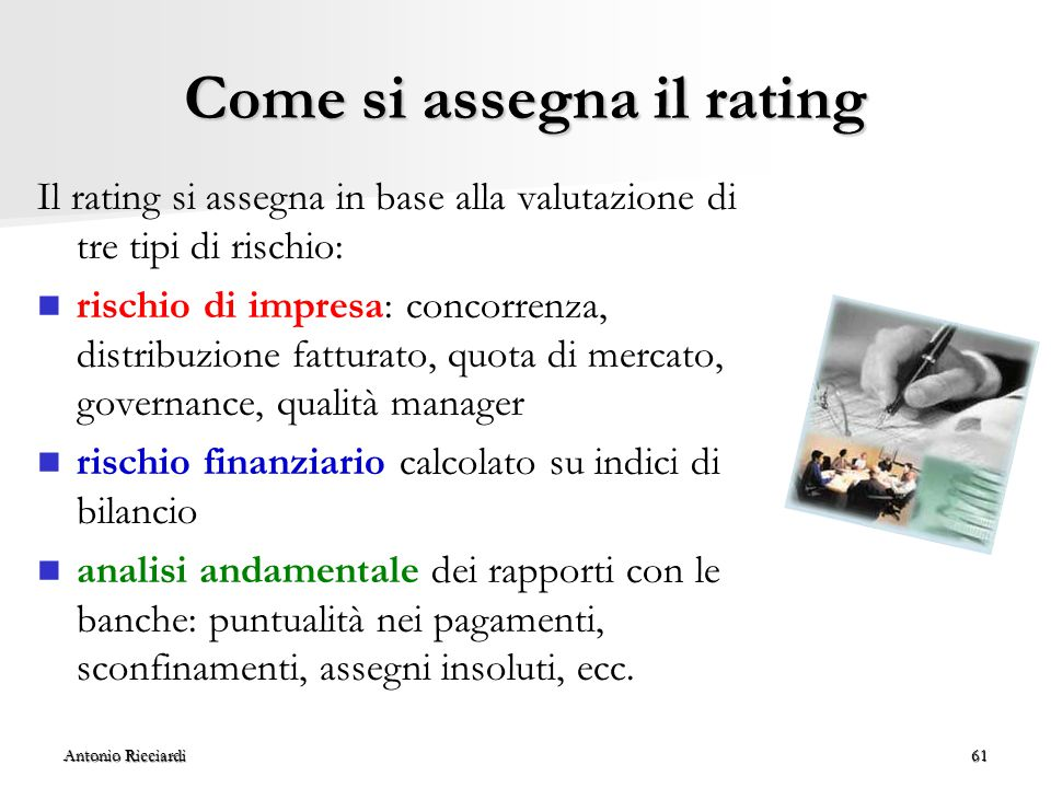 Come si assegna il rating