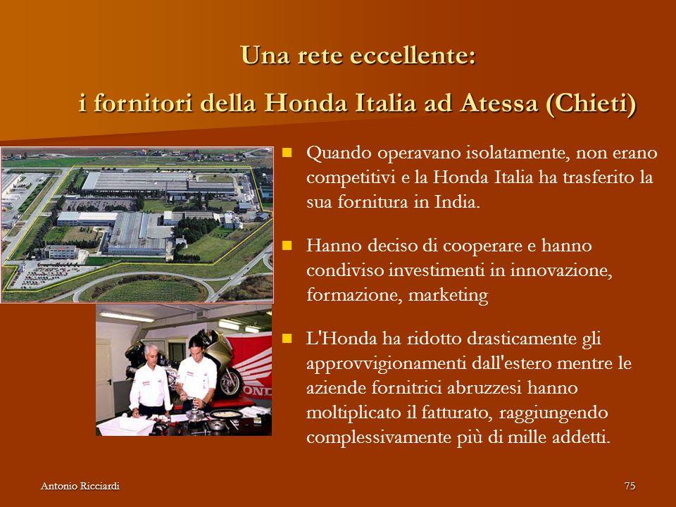 Una rete eccellente: i fornitori della Honda Italia ad Atessa (Chieti)