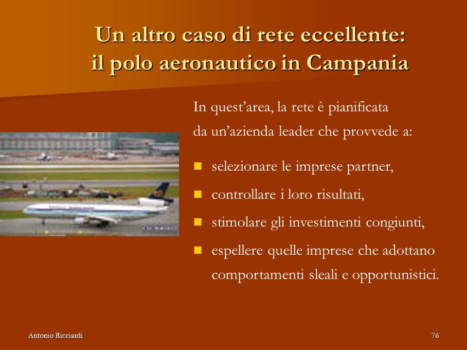 Un altro caso di rete eccellente: il polo aeronautico in Campania