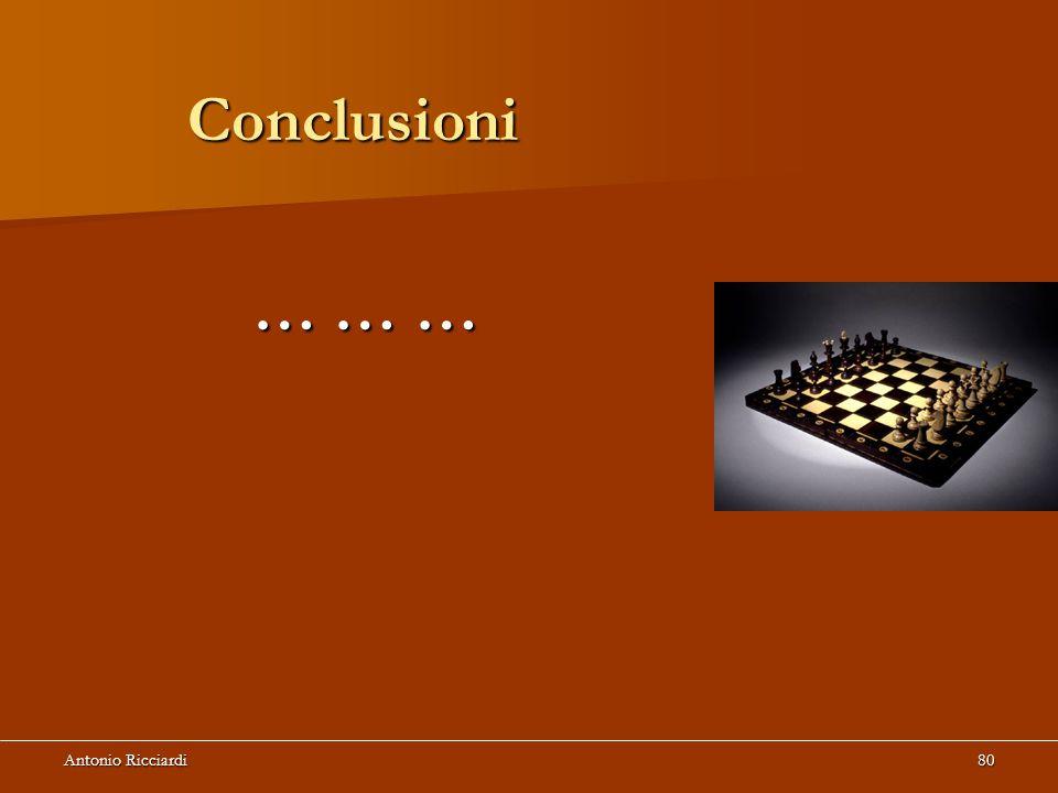 Conclusioni … … … Antonio Ricciardi