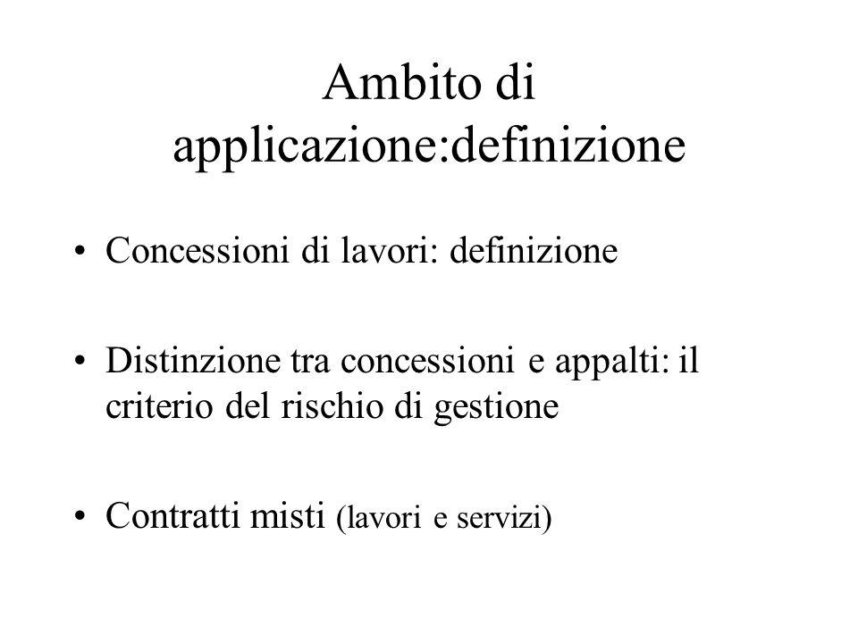 Ambito di applicazione:definizione