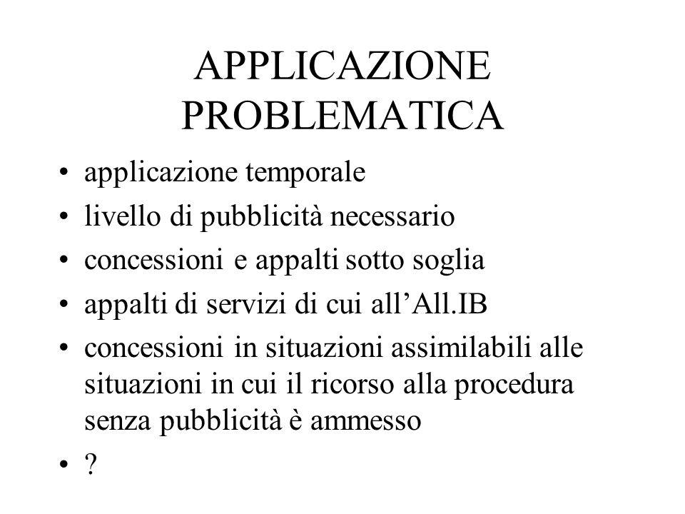 APPLICAZIONE PROBLEMATICA