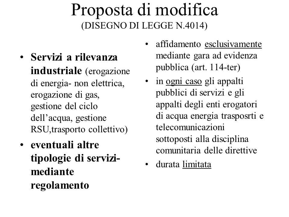 Proposta di modifica (DISEGNO DI LEGGE N.4014)