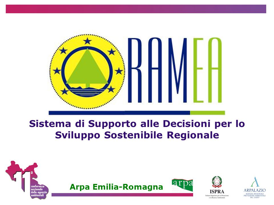 Sistema di Supporto alle Decisioni per lo Sviluppo Sostenibile Regionale