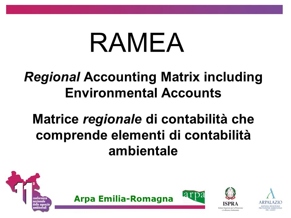 Regional Accounting Matrix including Environmental Accounts