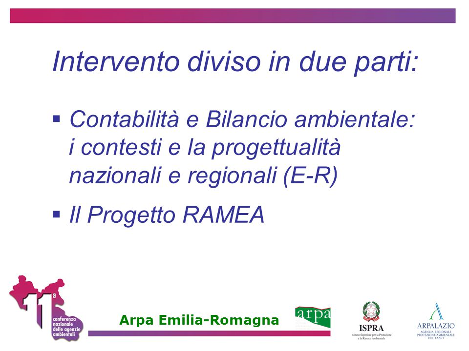 Intervento diviso in due parti: