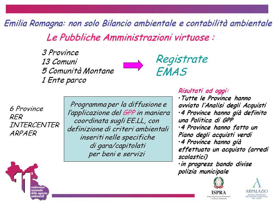 Registrate EMAS Le Pubbliche Amministrazioni virtuose :