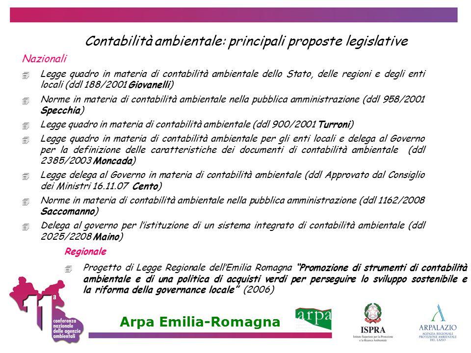 Contabilità ambientale: principali proposte legislative